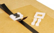 12mm White Plastic Strapping Buckles (1000 per box)