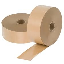 48mm X 200M Gummed Paper Tape 70GSM Wound GSI (Gum Side In)