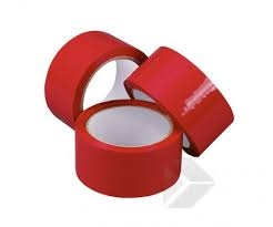 50mm X 66M Red Polypropylene Tape - 36 rolls per box