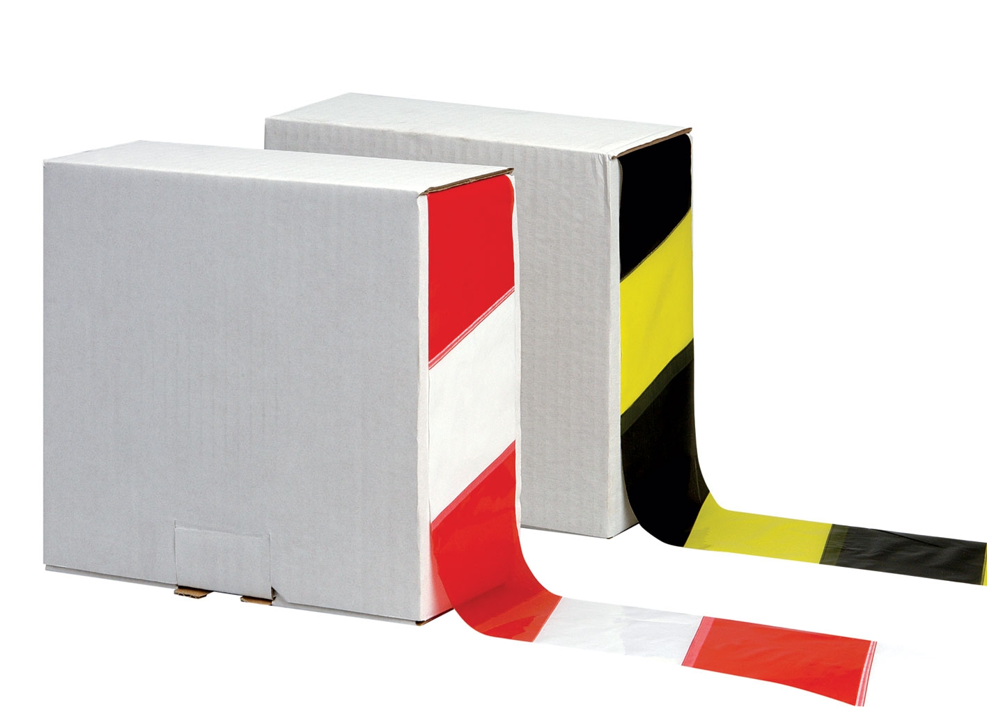 70mm X 500M Non Adhesive Black & Yellow Polythene Barrier Tape