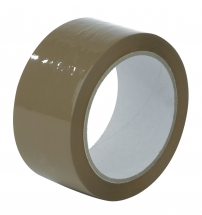 50mm X 66M Brown Polyprop Parcel Tape - Acrylic Adhesive - 36 rolls per box