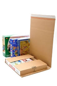 310mm X 250mm X 70mm Cardboard Book Wraps with Self Adhesive Closure A4 Size
