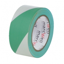 50mm x 33m Green & White Hazard Marking Tape