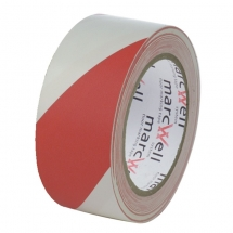 50mm x 33m Red & White Hazard Marking Tape
