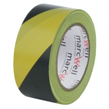 50mm x 33m Yellow & Black Hazard Marking Tape