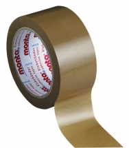 50mm X 66M Brown Polyprop Parcel Tape - Solvent Adhesive - 36 rolls per box