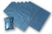 250 X 350mm + 40mm Lip Blue Metallic Mailers - Ref MB02