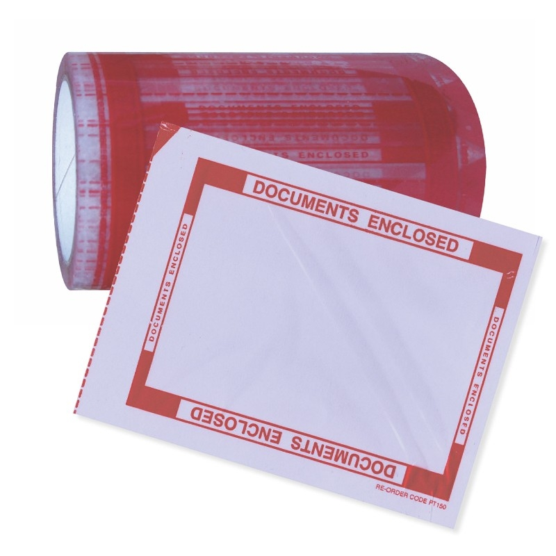 Tenzalopes Pouch Tape 144 X 200mm Printed Documents Enclosed