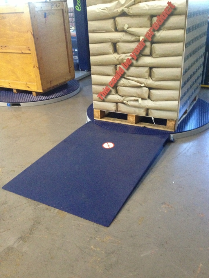 Heavy Duty Stretch Wrapper Turntable Ramp