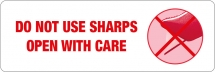 148mm X 50 Parcel Labels Printed DO NOT USE SHARPS - 500 labels per roll