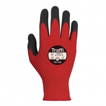 TRAFFI GLOVE MORPHIC CUT 1 SIZE 10 - TG1140 RED X-LARGE