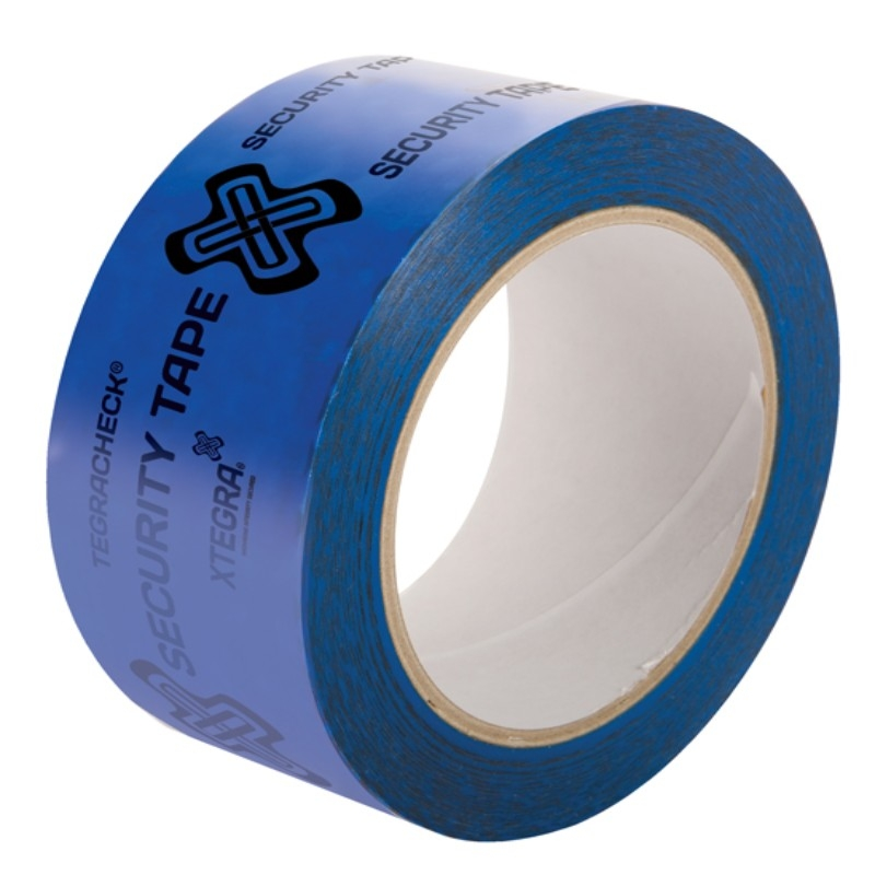 48mm x 50M Blue Adhesive Tamper Evident Security Tape